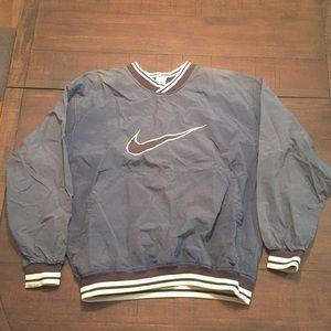 Vintage Nike Nylon V-neck Pullover Windbreaker L